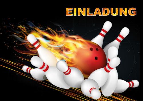 10 Einladungskarten Zum Kindergeburtstag Bowling, Geburtstagseinladungen  Kinder