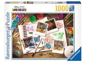 NEW RAVENSBURGER Puzzle 1000 Tiles Pieces Jigsaw Disney Pixar Sketches