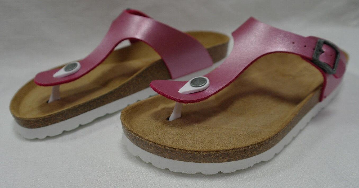 Junic Sandalen (Zehentrenner) rosa verstellbare Schnalle Gr. 37, 38, 39