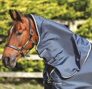 Horseware-Rambo-Tech-Duo-participation-Capuche-Cou-Capot-leger-50-g-Denim-Bleu-Sarcelle-S-XL