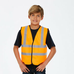 Uneek-Childrens-Hi-Vis-Waistcoat-Kids-Visibility-Viz-Vest-Jacket-Reflect-UC806