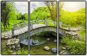 Cuadro Fotografico base madera, 93 x 62, Puente Bosque Verde