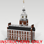 CUSTOM LEGO BUILDING Independence Hall Philadelphia.INSTRUCTIONS ONLY.NO PARTS