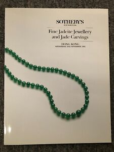 Sotheby S Fine Jadeite Jewellery And Jade Carvings Hong Kong 1994 Ebay