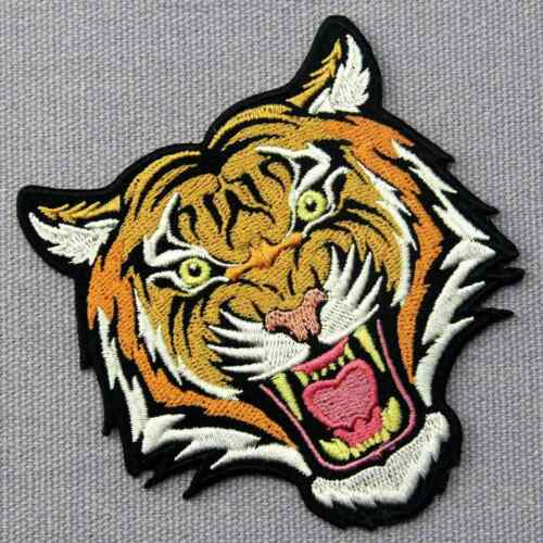 Iron sew on patches transfers Embroidered appliques animal badges rock biker