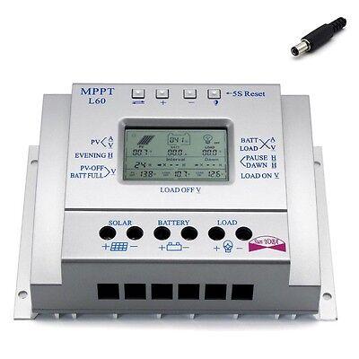 Intelligent 60A MPPT Solar Panel Charge Controller 12V 24V Battery Regulator FT