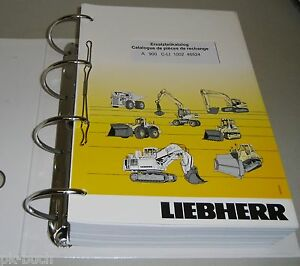 Spare Parts Catalog Pièces de Rechange Liebherr Excavator A 900 C-Li Stand