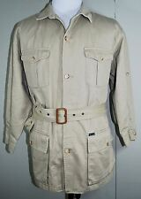 FACONNABLE Trench Coat - Mens XL 100% Cotton Khaki Twill Albert Goldberg France