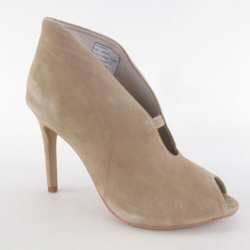 B C BOTTINE sable cuir Chaussures femmes neuves cuir bout ouvert NEUF