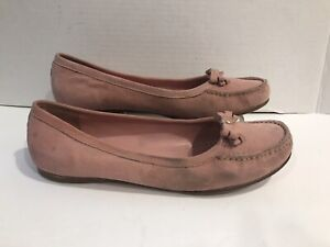 Prada-PinK-Women-039-s-37-5-EUR-7-US-Suede-Flats-With-Bow-Shoes