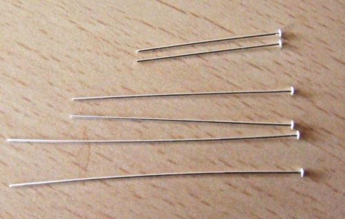 """Sterling Silver Head Pins 2/"""" 925 Sterling Silver UK Made UK Seller S2-3"""
