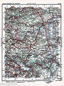 Ulm Konstanz Sigmaringen 1935 kl. orig. Eisenbahn-Karte Metzingen Isny Biberach - Berlin, Deutschland - Ulm Konstanz Sigmaringen 1935 kl. orig. Eisenbahn-Karte Metzingen Isny Biberach - Berlin, Deutschland