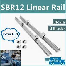 Sbr12 Linear Rail Guide 300mm 1500mm Slide Shaft Rod8pcs Sbr12uu Bearing Block