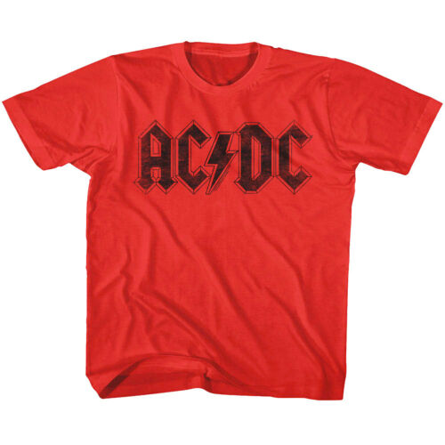 ACDC Vintage Rock Band Logo Kids T Shirt Album Concert Boys Girls Baby Youth Top
