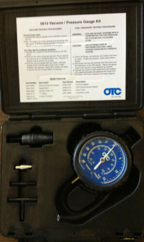 Vacuum//Fuel Pressure Gauge and Adapters Tester Kit w//Case. 5613 OTC SPX