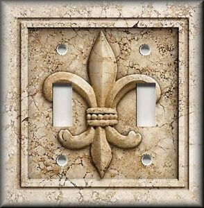 Image Is Loading Metal Light Switch Plate Cover French Fleur De
