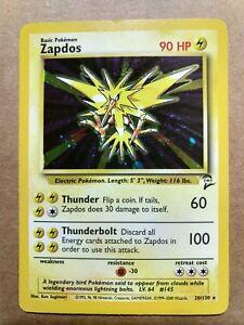 PLAYED 20//130 Rare Base 2 Holo Pokemon Card FAST /& FREE P/&P! Zapdos