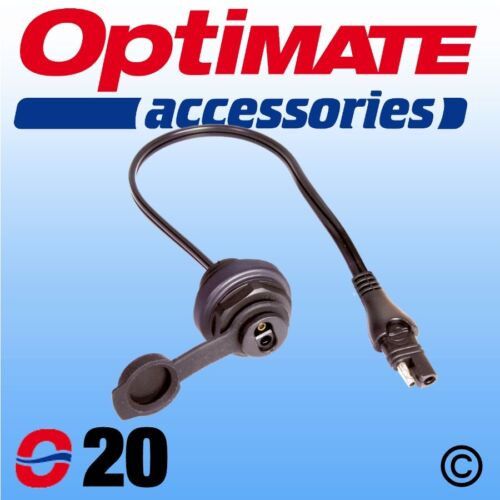 OptiMate CABLE O 20 Weatherproof SAE Socket Panel Mount