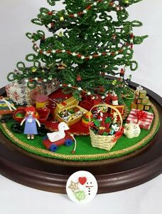 Details About For Westrim Beaded Mini Christmas Tree Under Tree Decor Cookies For Santa
