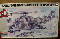 1987 Monogram 1/48 Scale Mil Mi-24 Hind Gunship Helicopter 5819 Iron Curtain B3