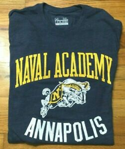 Under Armour Men/'s USNA United States Naval Academy Gray T Shirt US Navy
