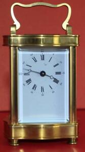 VINTAGE-FRENCH-L-039-EPEE-8-DAY-DOUCINE-SERPENTINE-TIMEPIECE-CARRIAGE-CLOCK