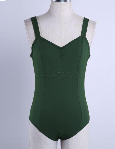 Women Lady Ballet Gymnastic Leotard Adult Sleeveless Dance Unitard Dress Costume