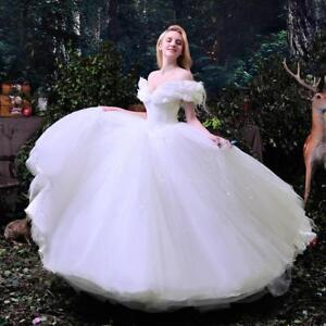 050351c5288 Image is loading Cinderella-Wedding-Dresses-Princess-Bridal-Ball-Gowns-Plus-