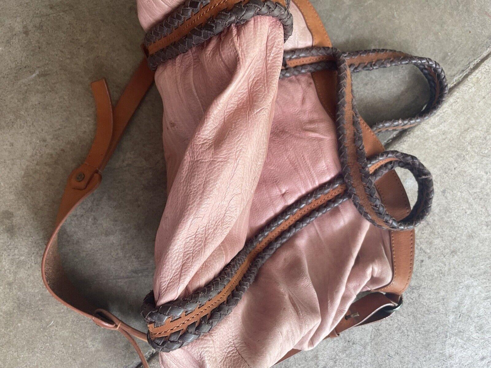 holding horses Leather Dusty Pink bag - image 4