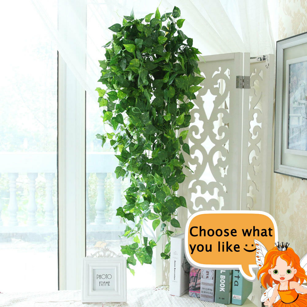 Set 2 Artificial Weeping Ivy Vine Plants Outdoor Indoor Hanging Decor Green For Sale Online Ebay