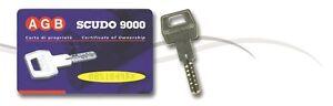 Belle Copia Chiave Agb Scudo 9000 Duplicazione Protetta Card Tessera Sicurezza