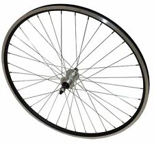 LEGA Posteriore 700c doppia parete Ibrida Bike imbullonato ruota vite sul mozzo Nero RIM