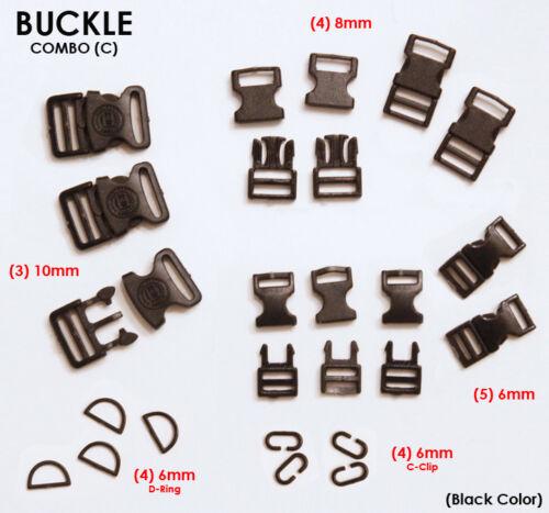 1//6 scale Military Plastic Insert buckle BLACK USA DAM for 4MM Nylon webbing