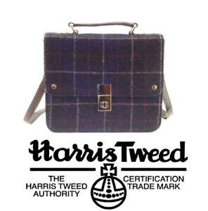 mano Harris cuero Tweed damas Square tejido para en genuino a Jessica tUpAUrq