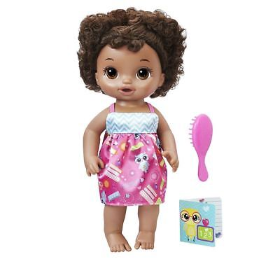 Hasbro My Baby Alive 2010 Interactive Talking African American Doll Black Hair