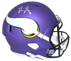 Justin Jefferson Autographed Minnesota Vikings Speed Mini Helmet BAS