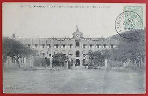 FRANCE NOUVELLE CALEDONIE NOUMEA 1905 LA CASERNE D'INFANTERIE LE 14 JUILLET