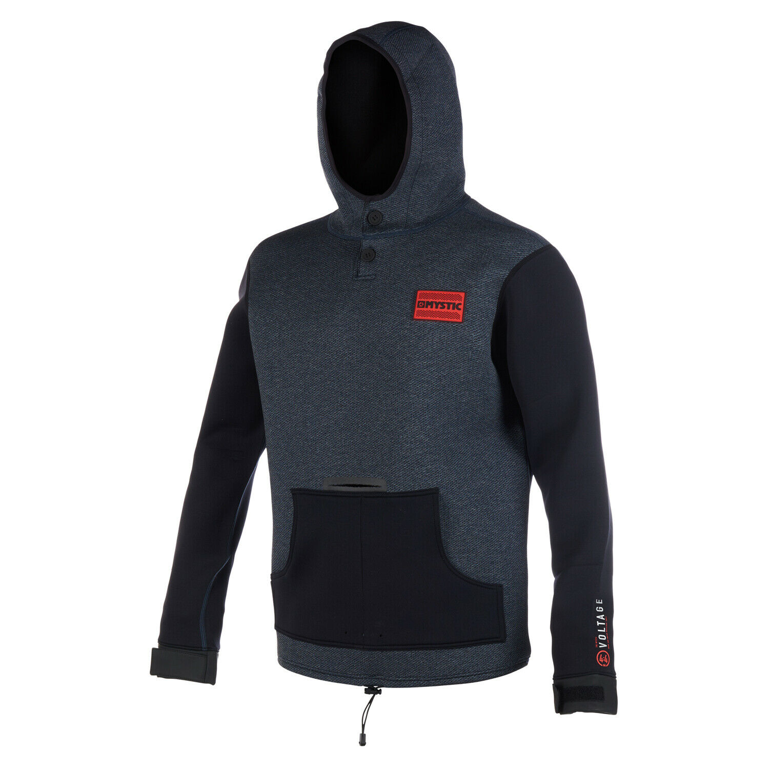 Mystic Voltage Sweat Neoprene Hoody 2019 - Navy  röd