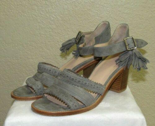 The Office Of Angela Scott Block Heel Gray sandals