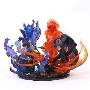 Naruto Shippuden-Sasuke & Figurines Uchiha Susanoo d'Itachi 21 cm.