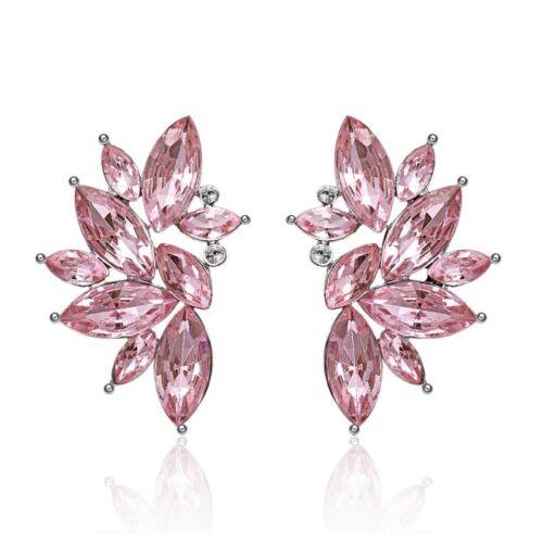 Fashion Rhinestone Crystal Wing Flower Ear Stud Drop Earrings Charm Women/'s Gift