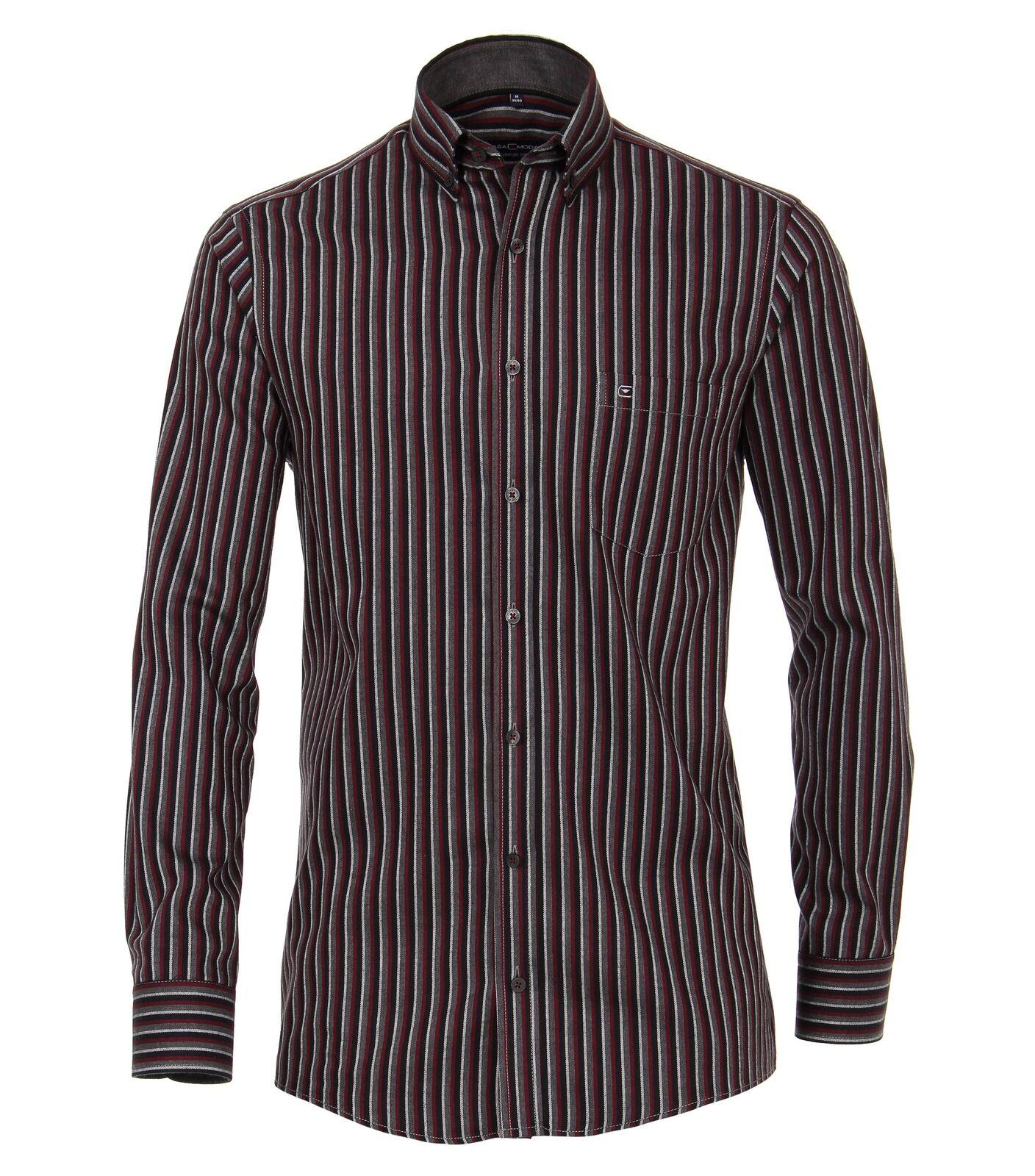 Casa Moda-Comfort Fit-Hommes manches longues Button-Down chemise rayé (483090800) (483090800) (483090800) 9679b0