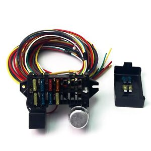 s l300 8 fuse universal wire harness 10 circuit 12v street hot rat muscle universal wire harness at edmiracle.co