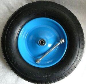 4.00-8 6PR Schubkarrenräder Schubkarre Rad Räder Ersatzrad Luftrad Felge blau