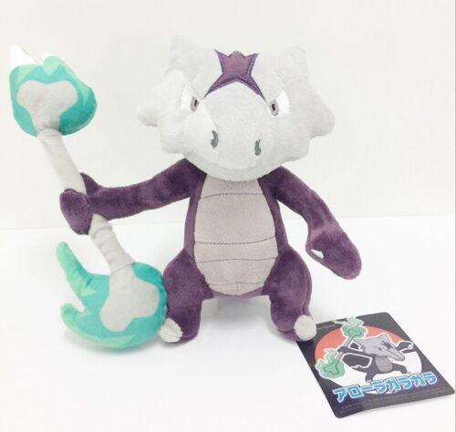 "Pokemon Center Sun Moon Alola Marowak Garagara Pokedoll Plush Doll Toy 8/"""