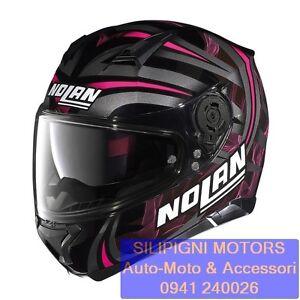 NOLAN-N87-LEDLIGHT-N-Com-31-GLOSSY-BLACK-Casco-Integrale-Moto-NolanGroup