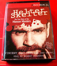 Vincent Bugliosi Helter Skelter Charles Manson 4-Tape Audio Book Robert Foxworth