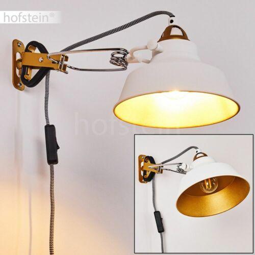 Vintage Wand Lampen Schalter Schlaf Wohn Raum Beleuchtung weiß//gold Flur Leuchte