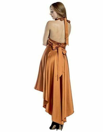 Details about  /1970/'s Vintage Style Disco Burnt Orange Costume Fancy Dress Womens XS-XL