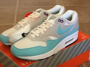 Details about Nike Air Max 1 OG Anniversary White Aqua Neutral Grey 908375 105 Men's 8.5